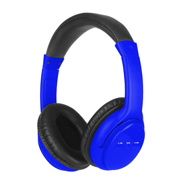 Sylvania Bluetooth Stereo Headphones with Microphone - Blue