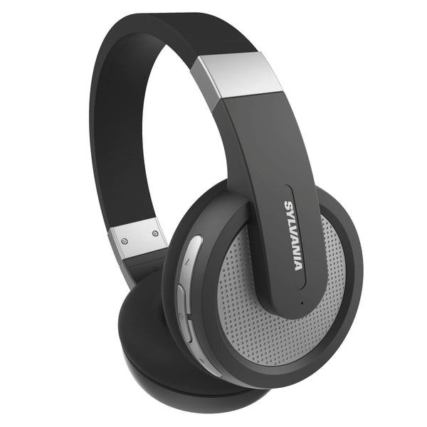 Sylvania Full-Sized Bluetooth Stereo Headphones with Microphone - Black