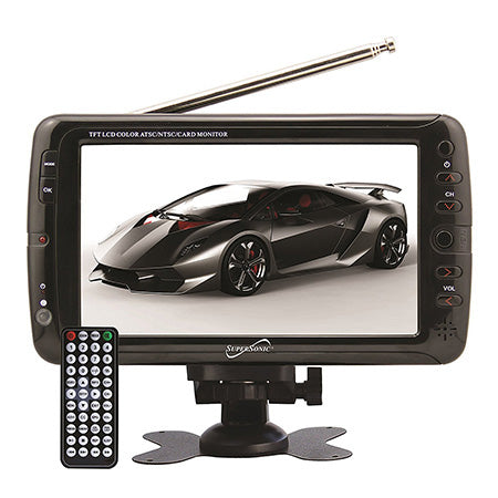 SuperSonic 7-in Portable Digital LCD TV with AC/DC
