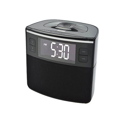 Sylvania Bluetooth Dual Alarm Clock with USB Charging and FM Radio - Black