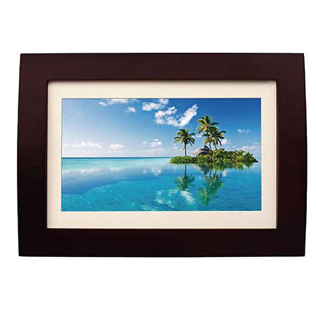 Sylvania 10-in Photo Frame with Remote - Wood