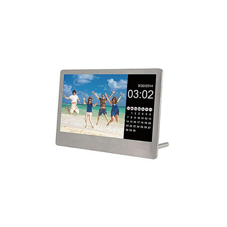 Sylvania 7-in Photo Frame with Remote - Stainless Steel