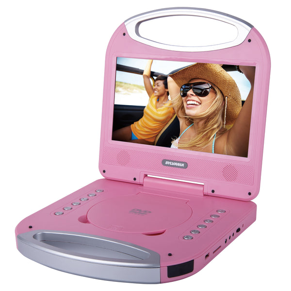 Sylvania 10-in Portable DVD Player with Integrated Handle - Pink