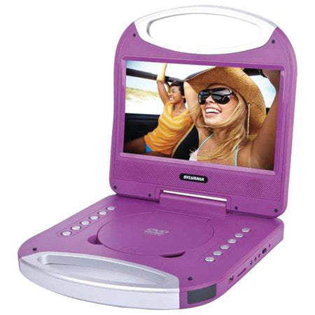 Sylvania 10-in Portable DVD Player with Integrated Handle - Purple