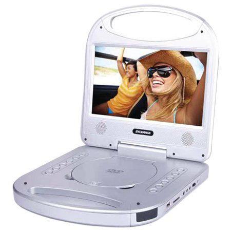 Sylvania 10-in Portable DVD Player with Integrated Handle - Silver
