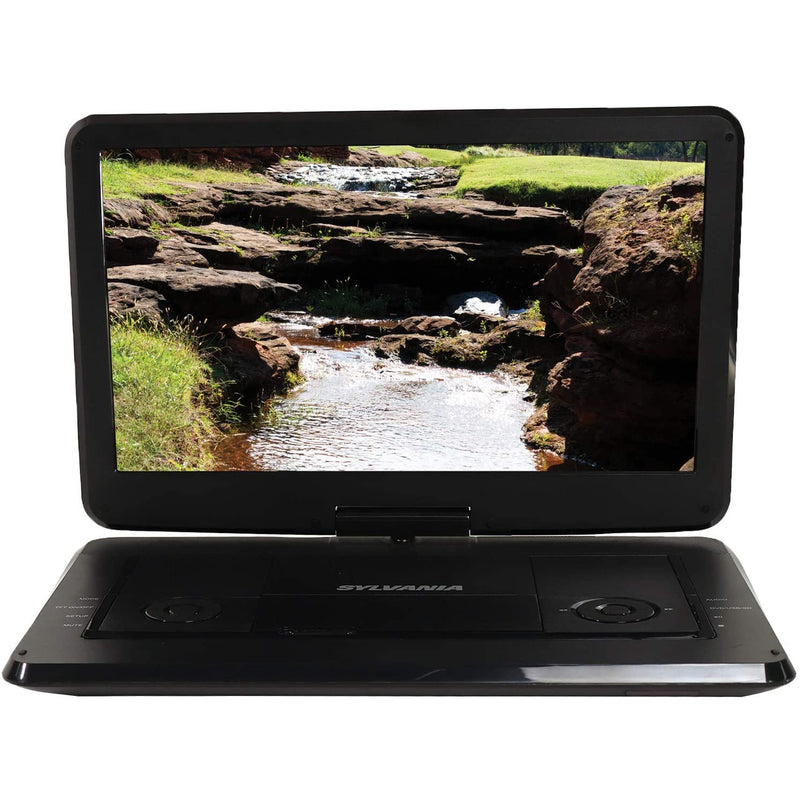 Sylvania 15.6-in Portable DVD Player with Swivel Screen - Black