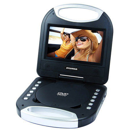 Sylvania 7-in Portable DVD Player with Integrated Handle - Black