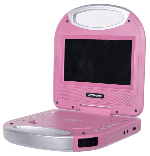 Sylvania 7-in Portable DVD Player with Integrated Handle - Pink