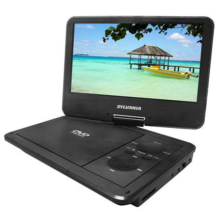 Sylvania 9-in Swivel Screen Portable DVD Player with USB Port - Black