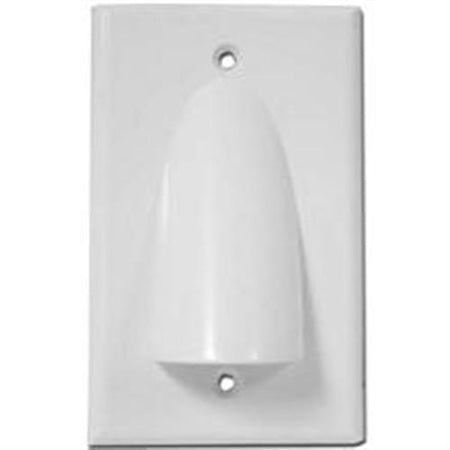 HomeWorx Single Gang Bundled Cable Wall Plate - White