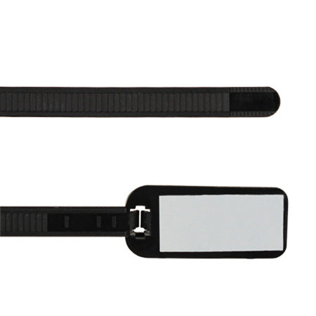 TDL Signature Series 7.6-cm (3-in) Cable Ties with Write-on Label - Black