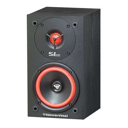 Cerwin Vega Home 13.3-cm (5.25-in)-in 2-Way Bookshelf Speaker - Pair - Black
