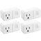 iLuv Smart Wi-Fi Mini Plug with Alexa and Google Assistant Compatibility - 4 Pack