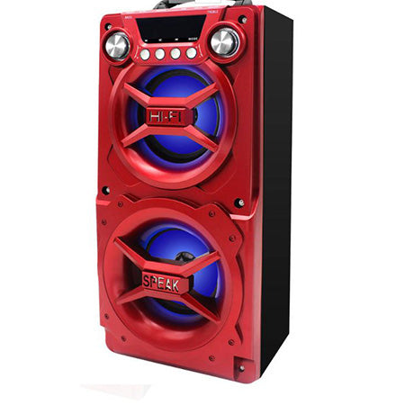 Sylvania Bluetooth Portable LED Speaker - Red