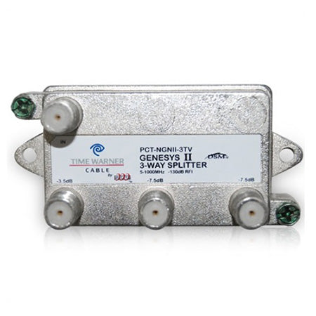 PCT 3-way RF Splitter, CATV Signal Distribution