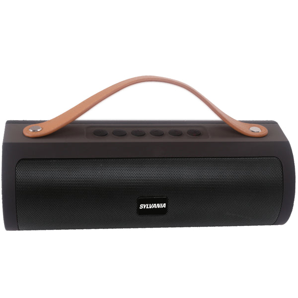 Sylvania Wireless Bluetooth Speaker with Leather Strap - Black