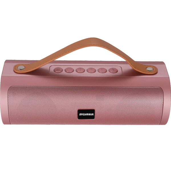 Sylvania Wireless Bluetooth Speaker with Leather Strap - Rose Gold