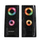 Sylvania 2.0 Channel Light Up Computer Speakers - Black