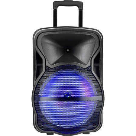 Sylvania 12-in Woofer Tailgate Speaker with Bluetooth, Karaoke Microphone and LED Party Light - Black