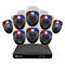 Swann 1080p HD 8 Channel 1TB Hard Drive DVR Security System with 8 x 1080p Police-Style Red and Blue Flashing Light Security Cameras (PRO-1080SL)