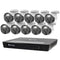Swann Master 4K Ultra HD 16 Channel 2TB Hard Drive NVR Security System with 10 x 4K Heat and Motion Detection Spotlight IP Security Cameras (NHD-875WLB)