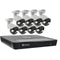 Swann Professional 4K Ultra HD 16 Channel 2TB Hard Drive NVR Security System with 10 x 4K Thermal Sensing Spotlight IP Security Cameras (NHD-885MSFB)