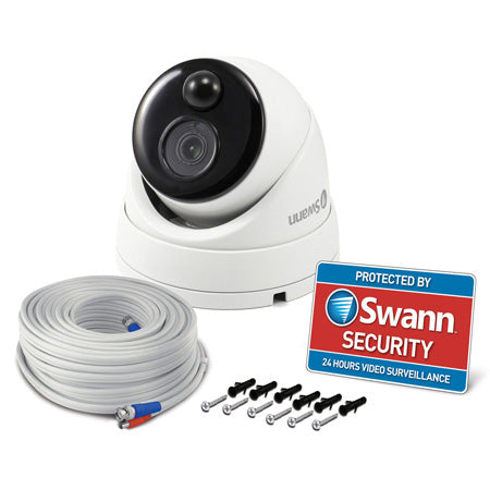 Swann 1080p Outdoor True Detect Thermal-Sensing Dome Security Camera - White