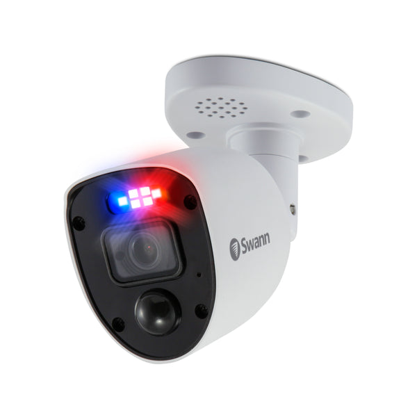 Swann 1080p HD Police-Style Red and Blue Flashing Light Add-On Bullet Security Camera