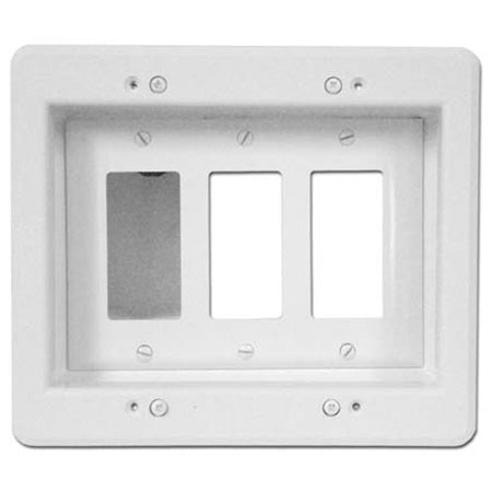 Arlington Triple-Gang Recessed Electrical Box - White