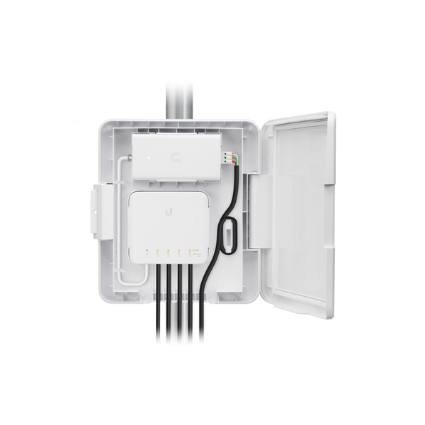 Ubiquiti UniFi Outdoor Weatherproof Utility Network Device Enclosure for the UniFi Switch Flex