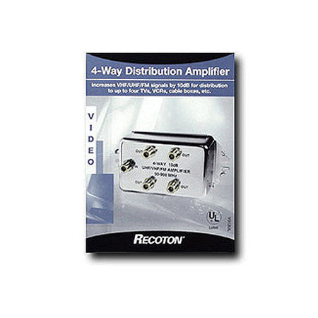 Recoton 4-Way Signal Distribution Amplifier