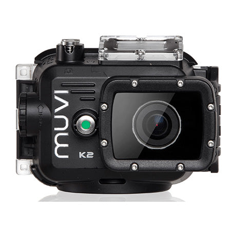 Veho MUVI K-Series K-2 NPNG 1080p WiFi 16MP Action Camera with Waterproof Case, Detachable Screen, 8GB Memory Card, Mounts and Carry Case - Black