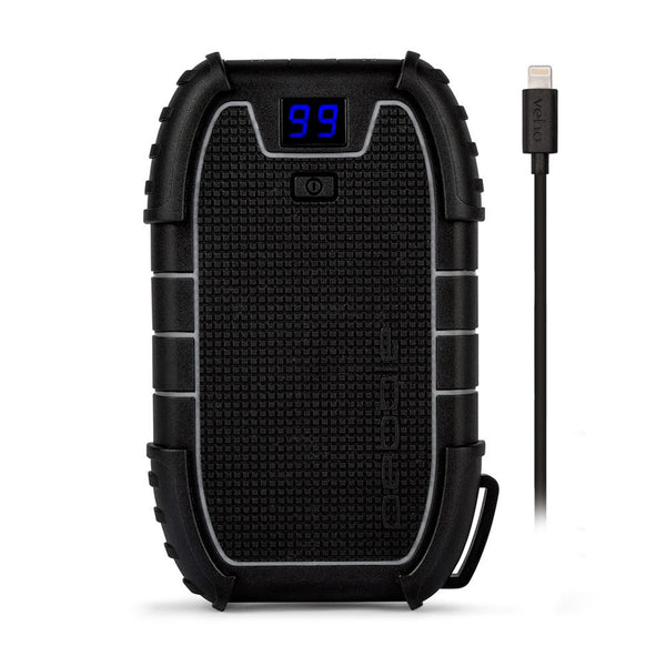 Veho Pebble Endurance Pro Water Resistant Power Bank 15000-mAh - Black