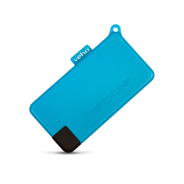 Veho Pebble Pokket 1,000-mAh Micro Size Keyring Power Bank - Blue