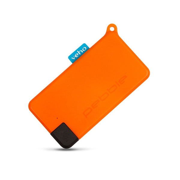 Veho Pebble Pokket 1,000-mAh Micro Size Keyring Power Bank - Orange