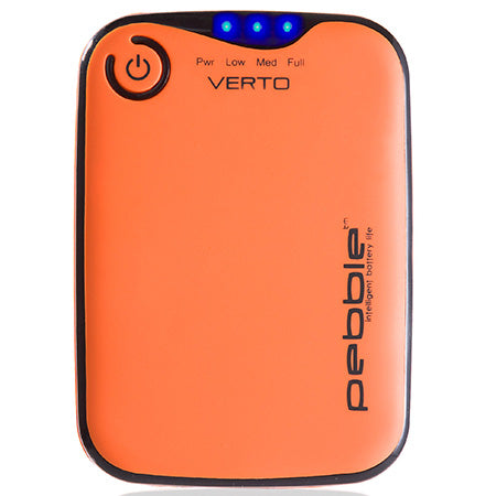Veho Pebble Verto 3,700-mAh Portable Battery Pack Charger for Smartphones, MP3 and USB Charged Devices - Orange - Open Box
