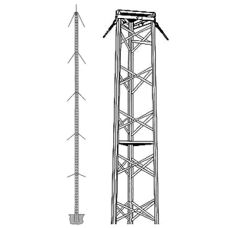 Wade Antenna 30.7-meter (101-ft) Commercial Guyed Tower
