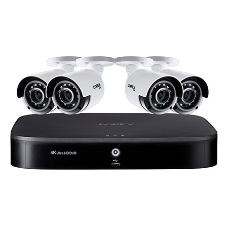 Lorex 4K Ultra HD 8-channel 2TB Hard Drive DVR Security System with 4 x Outdoor Bullet Security Cameras