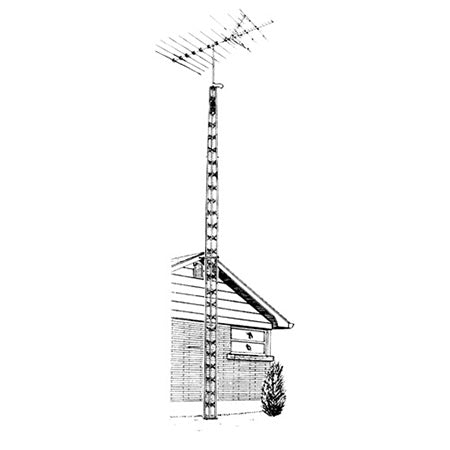 Wade Antenna DMXB-04 11-meter (36-ft) Bracketed Tower Package