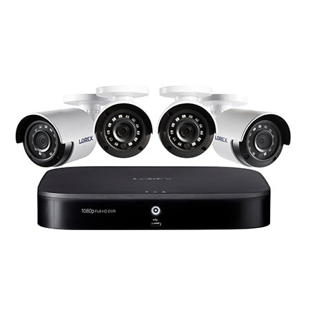 Lorex 1080p 8-channel 1TB Hard Drive DVR Security System with 4 x Outdoor Bullet Security Cameras