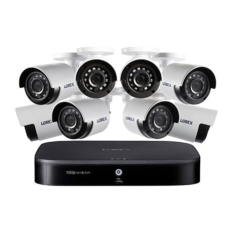 Lorex 1080p 8-channel 1TB Hard Drive DVR Security System with 8 x Outdoor Bullet Security Cameras