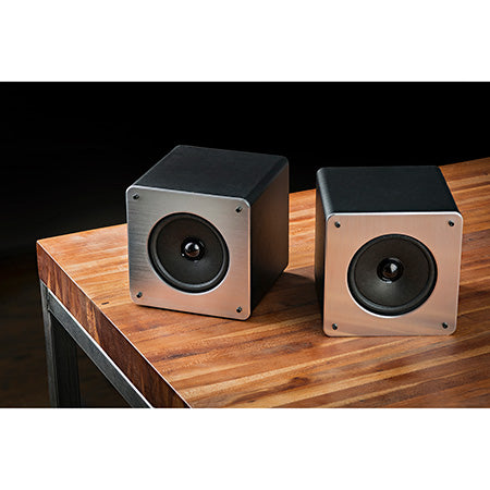 SoundLogic Dual True Wireless Bluetooth Speakers - Black - Open Box