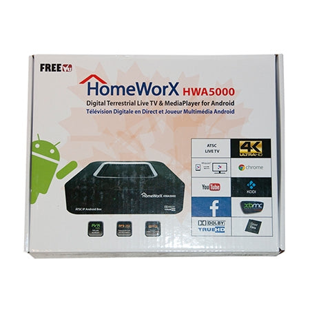 Homeworx 4K Quad Core TV Streaming Media Player - Black