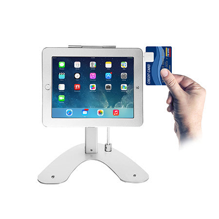 CTA Digital Dual Security Kiosk Stand with Locking Case and Cable for iPad & iPad Air - Silver - Open Box