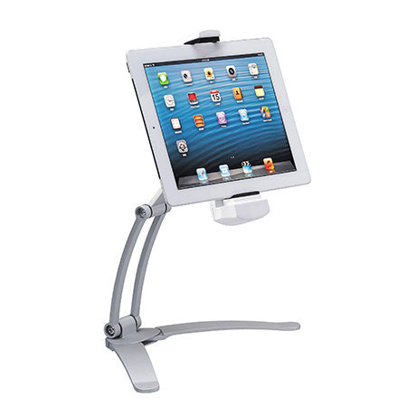 CTA Digital 2-in-1 Kitchen Mount Stand for iPad & Tablets - Silver - Open Box