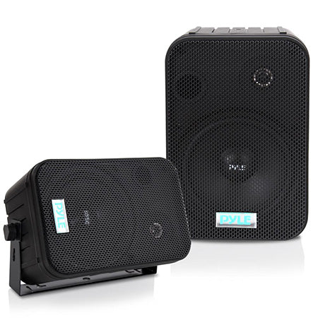Pyle 6.5-in Indoor/Outdoor 200-watt Waterproof Speakers - Pair - Black