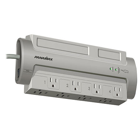 Panamax Powermax 8 Outlet Surge Protector - Grey