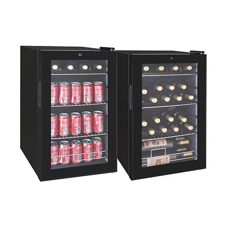 RCA Beverage Cooler for 101 Cans or 24 Wine Bottles - Black