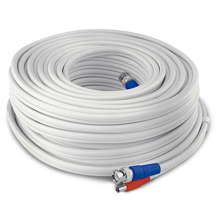 Swann HD Video and Power UL Certified BNC Extension Cable - 30-meter (100-ft) - White