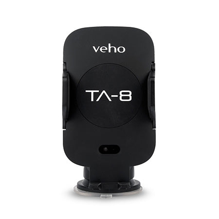 Veho Universal In-Car Smartphone Cradle with Qi Wireless Charging and Automatic Smartphone Grip Opening - Black